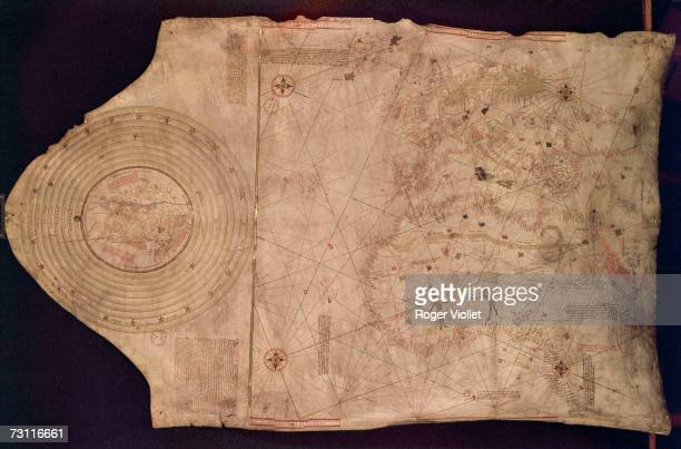 View of the known world late 1400s On display at the Bibliotheque Nationale de France in Paris the map was used by Italian explorer Christopher...
