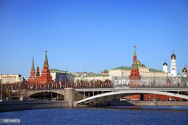 View of the Kremlin in Russia from river