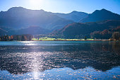 View of the lake In the Bavarian Alps