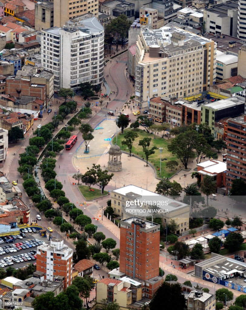View of the Las Aguas 'Environmental Axis' on February 9, 2010 in Bogota