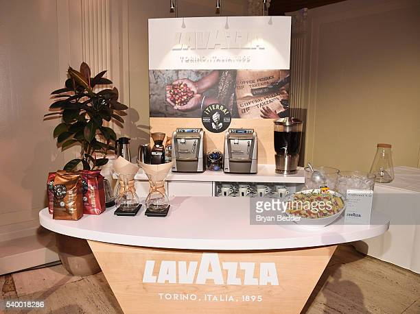 View of the LAVAZZA coffee cart at the World's 50 Best Restaurants 2016 Awards at Cipriani Wall Street on June 13 2016 in New York City