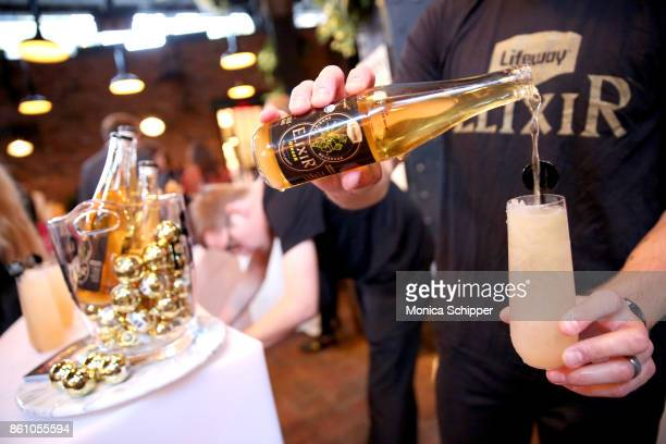 A view of the Lifeway Elixer being served during Aperitivo hosted by Scott Conant at The Standard High Line on October 13 2017 in New York City