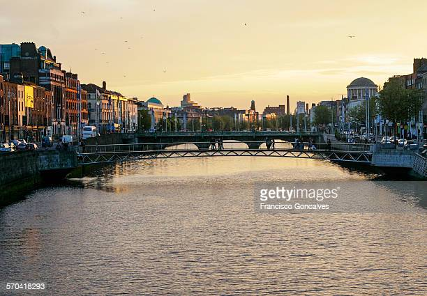 View of the Liffey River in Dublin