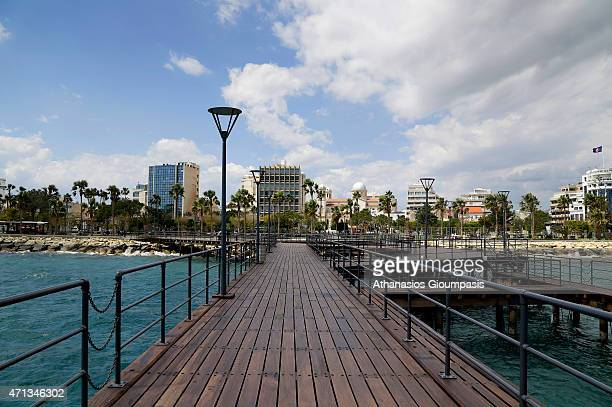 A view of the Limassol coastal front and promenade on April 10 2015 in Limassol Cyprus Limassolis located on the south coast of Cyprus It is the...