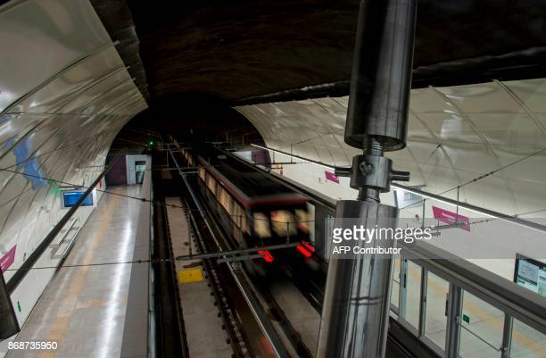 View of the line 6 of the Santiago subway that will be inaugurated next November 2 in Santiago October 31 2017 The new 15kmline of cuttingedge...