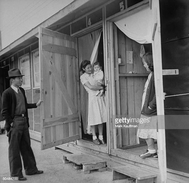 A view of the living conditions in the Japanese occupation camps in Santa Anita