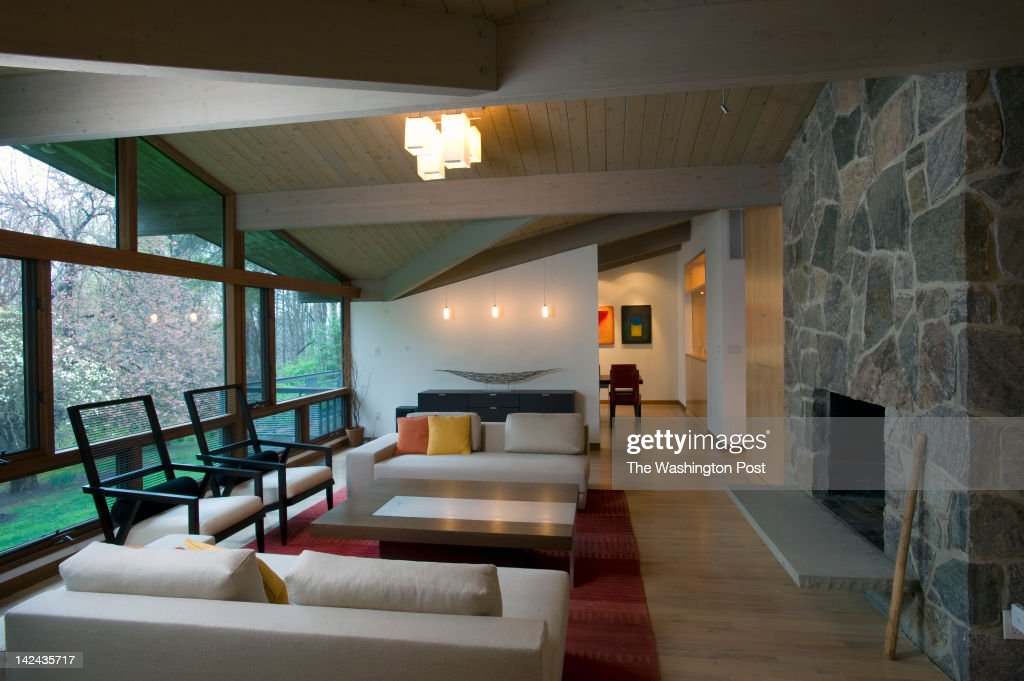A view of the living room looking toward the dining room in a renovated house in McLean VA March 24 2112