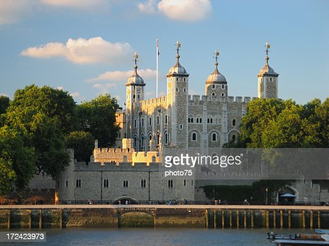 View of the London Tower across the water