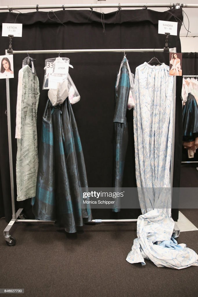 A view of the looks backstage for the Vicky Zhang fashion show during New York Fashion Week: The Shows at Gallery 1, Skylight Clarkson Sq on September 13, 2017 in New York City.