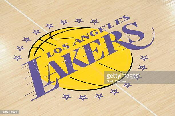 A view of the Los Angeles Lakers logo before a game against the Los Angeles Clippers at Staples Center on November 2 2012 in Los Angeles California...