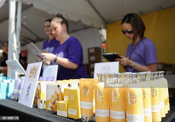 A view of the Madam CJ Walker Beauty Culture booth during the 2016 Essence Street Style Block Party at DUMBO on September 10 2016 in Brooklyn Borough...