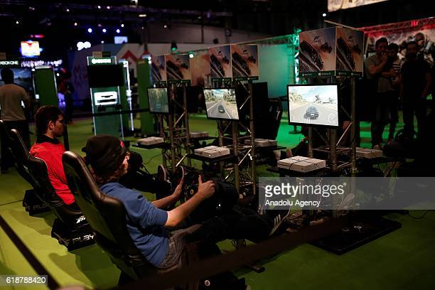 A view of the Madrid Gaming Experience fair at IFEMA in Madrid Spain on October 28 2016 Madrid Gaming Experience is the most extensive program of...