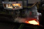 A view of the Magnitogorsk Iron and Steel Works a metal smelter on March 30 2011 in Magnitogorsk Russia Russian President Dmitry Medvedev paid a...