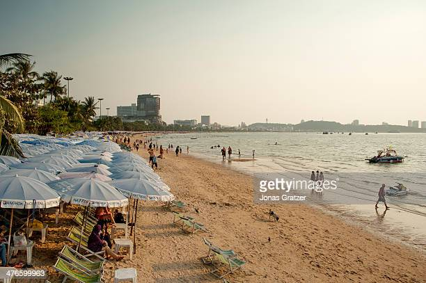 A view of the main beach that is directly connected to Pattaya city With its reputation as one of the epicenters of Thailand's sex industry Pattaya...