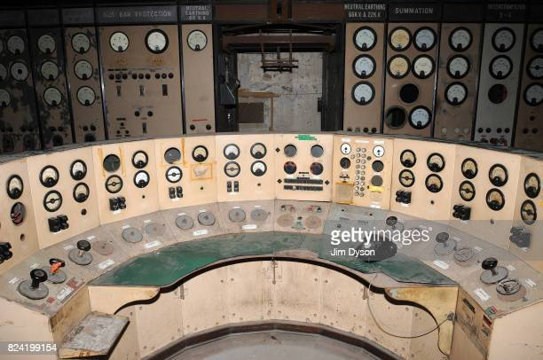 A view of the Main Control Panel inside the abandoned Control Room A of Battersea Power Station on November 5 2008 in London The decommissioned...
