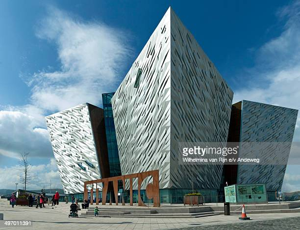 CONTENT] View of the main entrance and sign to Titanic Belfast Titanic Belfast is a visitor attraction and a monument to Belfast's maritime heritage...