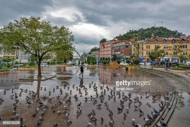 View of The main square of The Giresun City centre,Black Sea Coast of Turkey