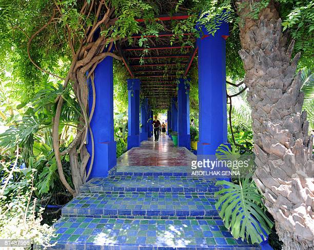 View of the Majorelle Garden in Marrakech on June 4 bought in 1980 by late French designer Yves SaintLaurent and his then partner Pierre Berge The...