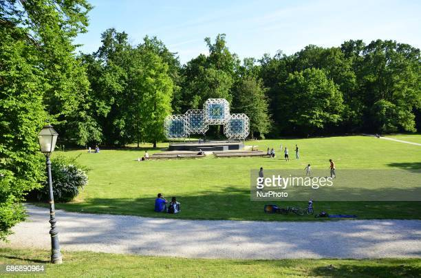 A view of the Maksimir park in Zagreb Croatia on 22 May 2017 during a beautiful sunny day in the park Maksimir
