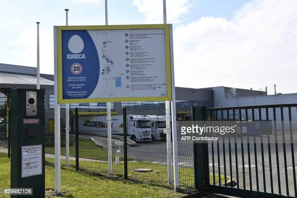 A view of the manufacturers of egg products for the food industry Igreca in SeichessurLoir on August 11 2017 Igreca received between July 11 and 26...