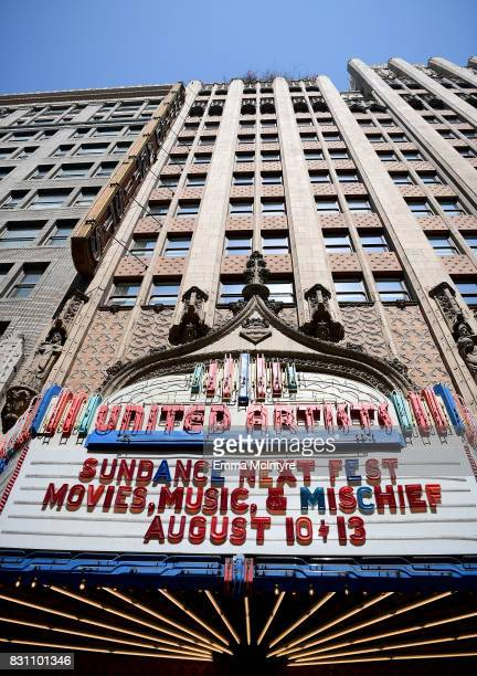 A view of the marquee outside 2017 Sundance NEXT FEST at The Theater at The Ace Hotel on August 13 2017 in Los Angeles California
