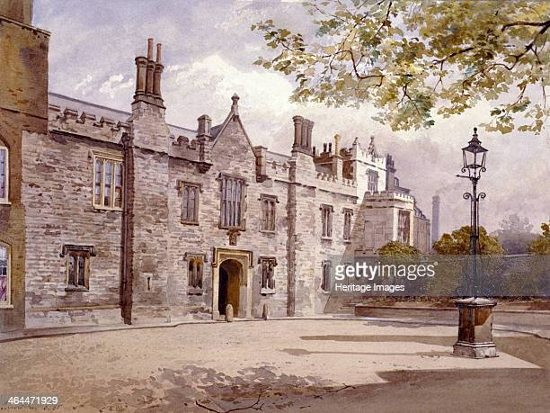 View of the Master's Lodge Charterhouse London 1885