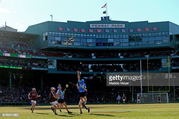 A view of the match between Dublin and Galway during the 2017 AIG Fenway Hurling Classic and Irish Festival at Fenway Park on November 19 2017 in...