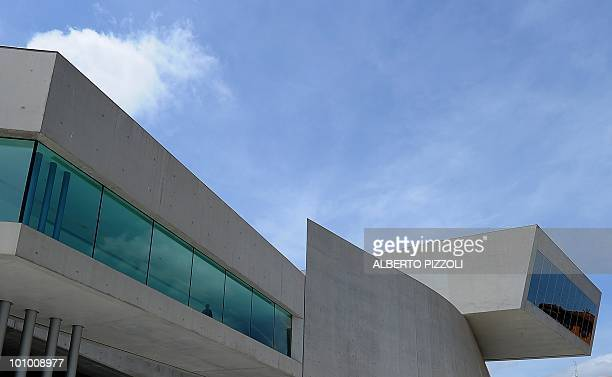 A view of the Maxxi building Italy's first national museum of contemporary art designed by Iraqi architect Zaha Hadid during a pressday preview in...