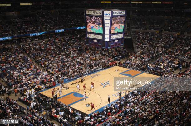 A view of the MCI Center is shown during the Washington Wizards game against the Miami Heat in Game three of the Eastern Conference Semifinals during...