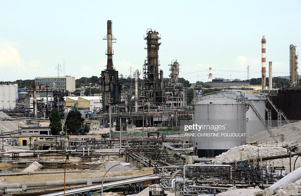 View of the mediterranean refinery of Lavera which belongs to British group Ineos, taken on April 26, 2010 in Martigues, southern France.