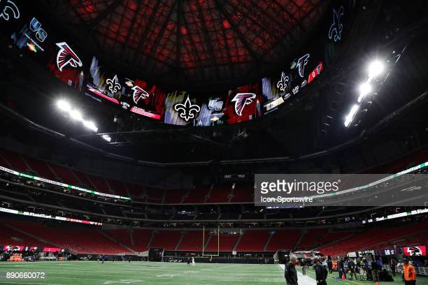 View of the MercedesBenz Stadium before the game against Atlanta Falcons and New Orleans Saints on December 07 2017 at the MercedesBenz Stadium in...