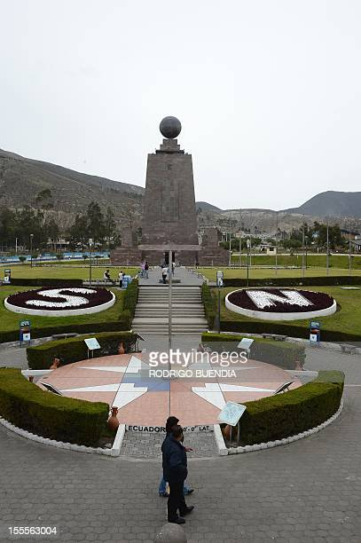 View of the 'Middle of the world' monument in Quito Ecuador on November 5 2012 The world's tallest tower 16 km could be erected in Ecuador on the...