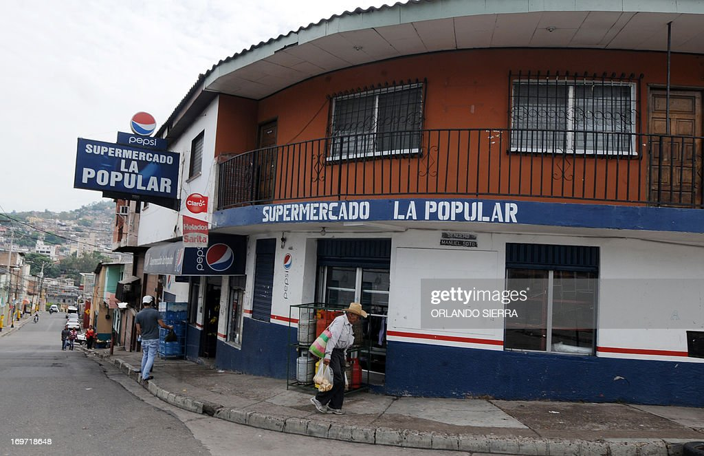 View of the minimarket La Popular owned by the entrepreneur Federico Aguiar who according him is extorted by Mara gangs in Tegucigalpa on May 31 2014...