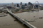 A view of the Mississippi River and the Poplar Street Bridge on Tuesday Dec 29 2015 as it enters into downtown St Louis