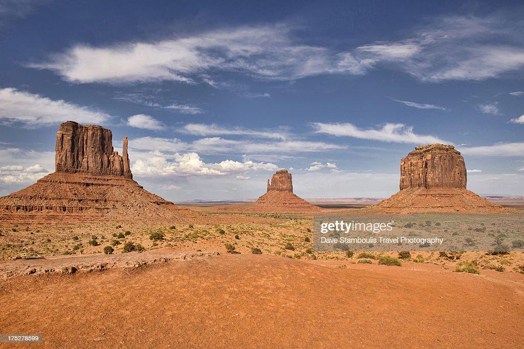 View of the Mittens, Monument Valley, Arizona-Utah