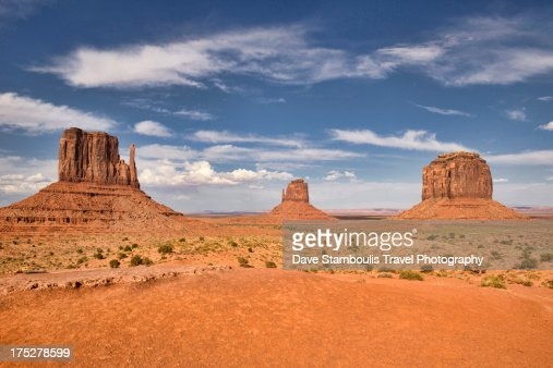 View of the Mittens, Monument Valley, Arizona-Utah