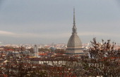 A view of the Mole Antonelliana from the Monte dei Cappuccini on day four of the Samsung ISU Short Track World Cup at the Palatazzoli on November 10...