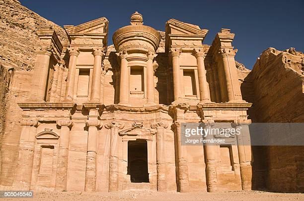 View of the Monastery facade in Petra