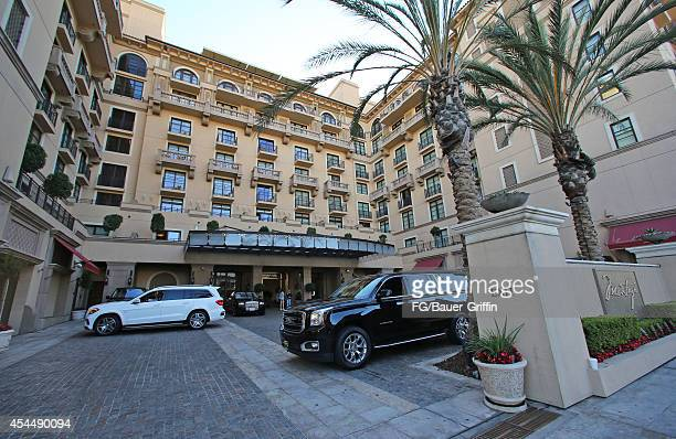 A view of the Montage hotel in Beverly Hills on September 01 2014 in Los Angeles California