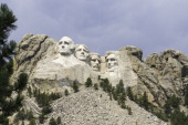CONTENT] View of the Mount Rushmore memorial near Rapid City SD showing the faces of 4 presidents Washington Lincoln Roosevelt and Jefferson Located...