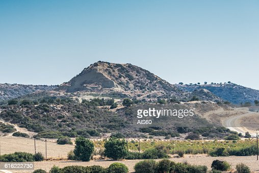 View of the mountain range, Cyprus. : Stock Photo