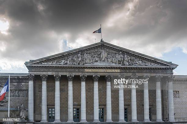 View of the National Assembly building, Paris, France