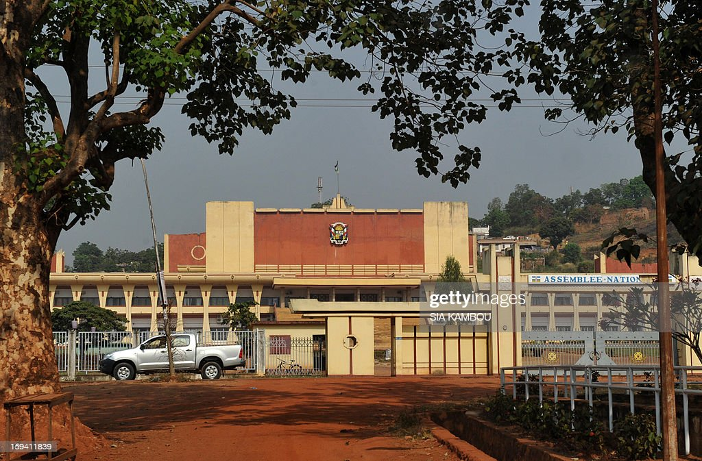 A view of the national assembly in Bangui, the capital of the Central African Republic, on January 13, 2013, in Bangui. Meanwhile Central African opposition lawyer Nicolas Tiangaye said today he has been named the country's new prime minister, after his predecessor was sacked to comply with a ceasefire deal reached with rebels.
