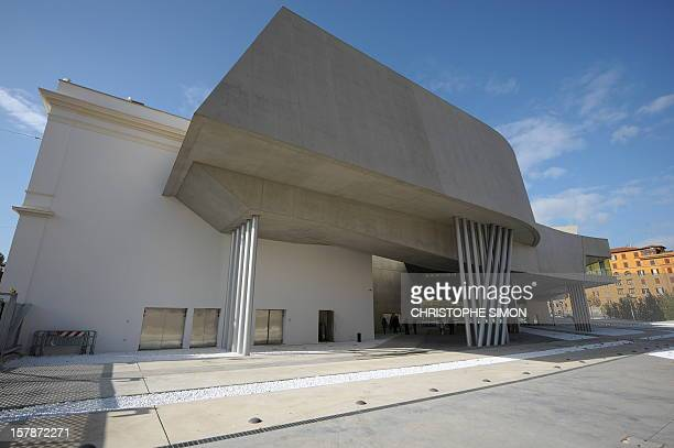A view of the National Museum of the XXI Century Arts the Maxxi during the architectural preview on the occasion of the completion of the building on...