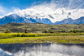 View of the National Park Torres del Paine, Patagonia, Chile