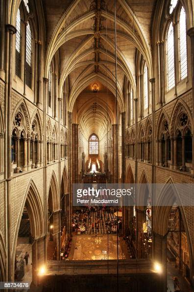 A view of the nave is seen from the Triforium in Westminster Abbey on June 26 2009 in London England As part of the Abbey's '2020 Vision' development...