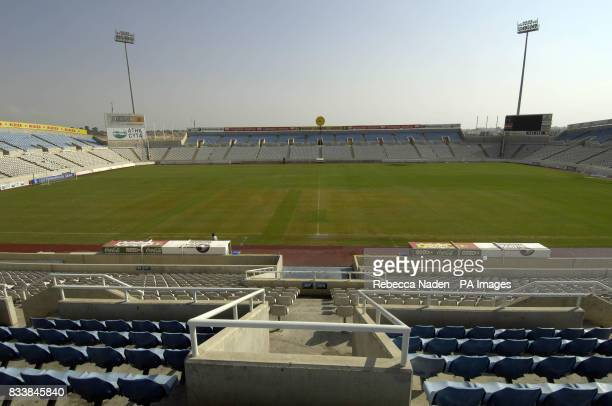 View of the Neo GSP Stadium Nicosia Cyprus Picture date Saturday October 13 2007 See PA story SOCCER Wales Photo credit should read Rebecca Naden/PA...