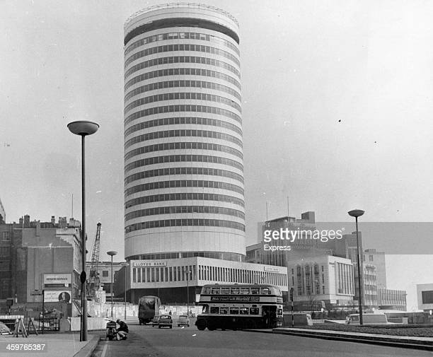 A view of the new Bull Ring Centre and Rotunda Building in Birmingham Alabama March 311965
