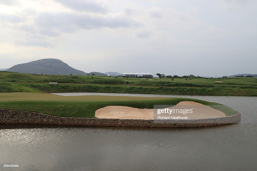 A view of the new driving range facility during previews for the Alfred Dunhill Championship at Leopard Creek Country Golf Club on November 29, 2016 in Malelane, South Africa. The new range at Leopard Creek inculdes a new par 3 course where the holes are based on famous holes from aroud the world