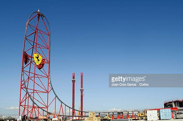 A view of the new Ferrari Land roller coaster at Port Aventura World on December 14 2016 in Salou Spain